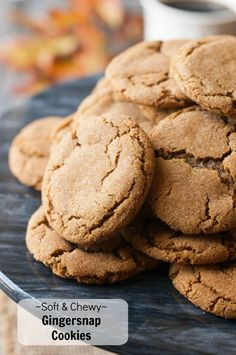 These soft & chewy gingersnap cookies may be the perfect gingersnap. Lots of flavor and spice, soft on the inside, chewy on the outside & a crackled top.