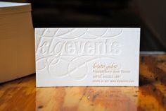 Letterpress Calling Cards - set of 100. $120.00, via Etsy.
