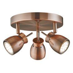 Searchlight 8813CU Jupiter LED Antique Copper 3 Light Ceiling Spotlight  | eBay