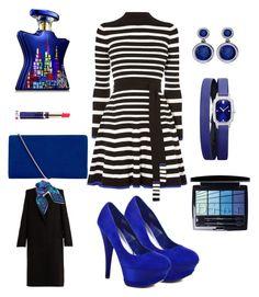 """Blue zebra"" by velvet-weapon on Polyvore featuring Karen Millen, Bebe, Harry Winston, Allurez, Christian Dior, Bond No. 9, Hobbs, Alexander McQueen and Liberty"