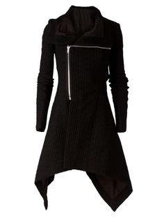RICK OWENS structured overcoat