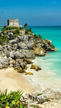 Beach at the God of Winds Temple in Tulum, Mexico