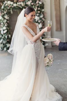 Photo from Rebecca + Craig collection by Craig & Eva Sanders Photography Plain Wedding Dress, Bohemian Wedding Dresses, Princess Wedding Dresses, Stunning Wedding Dresses, Wedding Dress Styles, Bridal Dresses, Bridal Hair Updo, Wedding Hair And Makeup, Wedding Hair Accessories