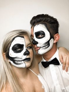 30 Amazing And Scary Couple Halloween Makeup Ideas For The Coming Halloween - Page 4 of 30 - Chic Hostess Halloween Face Paint Scary, Mens Halloween Makeup, Haloween Makeup, Halloween Men, Halloween 2019, Halloween Ideas, Ghost Makeup, Scary Makeup, Original Halloween Costumes
