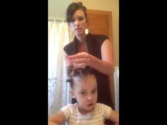 This is a Hairstyle for little girl biracial idea. Also good to know products for biracial hair. If you know any moms struggling to do their daughters hair