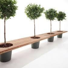 Afbeeldingsresultaat voor plantenbak met bankje