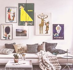 A cozy home with Ib Antoni posters on the wall. From JustSpotted's blog.
