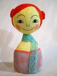 Resultado de imagem para boneca de papel mache passo a passo
