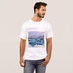 Jökulsárlón Glacier Lagoon T-Shirt. T-Shirt -nature diy customize sprecial design