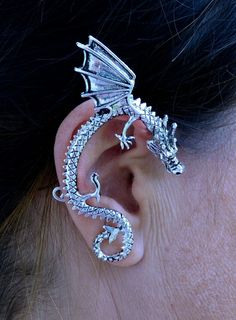 Medieval Metal - Elf Cuff Dragon Wing Silver – Hair Twisters