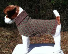 Custom made hand knit dog sweater by knitincolor on Etsy#dogsweater #customknit dogsweater