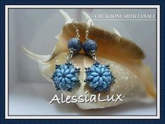DIY tutorial veloce, facile orecchino superduo beads e cristalli Italian-English gioielli fai da te - YouTube