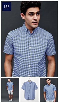Oxford micro gingham short sleeve standard fit shirt - The classic, one-and-done. Soft & super wearable.