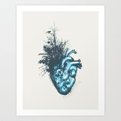 My Heart Grows Art Print by Tracie Andrews - $16.00