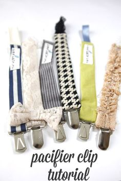 Universal pacifier clip tutorial. These would be fun to make as shower gifts!