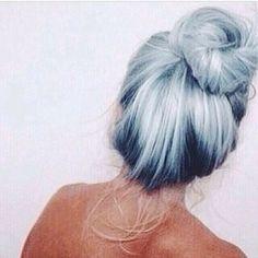 Light-pale blue hair color