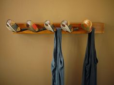 Recycled Golf Club Coat Rack Wooden Wall by tricialeewright, $180.00
