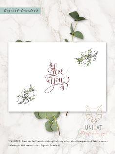 "Karte ""Love U"" Kalligrafie Lettering, Home Decor, Cards, Homemade Home Decor, Letters, Texting, Decoration Home, Calligraphy, Interior Decorating"