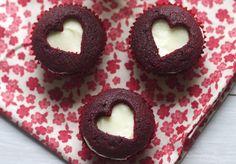 red velvet sweetheart cupcakes