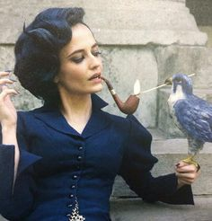 """Eva Green as Miss Peregrine Tim Burton's """"Miss Peregrine's Home for Peculiar Children"""" Miss Peregrine's Peculiar Children, Actress Eva Green, Art Magique, Peregrine's Home For Peculiars, Miss Peregrines Home For Peculiar, Tim Burton Films, Penny Dreadful, Upcoming Films, French Actress"""
