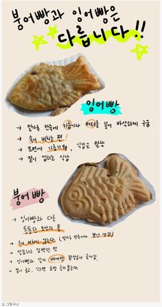 Korean Words, Drawing Tips, Food Art, Life Hacks, Infographic, Baking, Breakfast, Recipes, Yum Yum