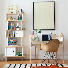 The perfect place for your little on to keep his or her books. This Kids Vertical Bookshelf Mini Library has shelves and cubbies giving all of you enough space to keep everything in order: toys, books, etc. The chic touch for yo kid's nursery!