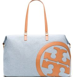 Tory Burch canvas and leather bat