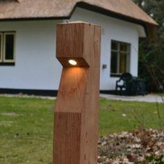 Houten tuinverlichting Timberled - Lantaarn, Bollard, Ornament