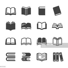 inspiration Bücher Icons - Acme Series Vektorgrafiken Illustration The supplies you will need to get Library Icon, Library Logo, Logo Design Inspiration, Icon Design, Art And Illustration, Cafe Logo, Book Logo, Typography Logo, Lettering
