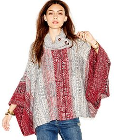 Free People Turtleneck Willow Fair Isle-Knit Poncho - Free People - Women - Macy's