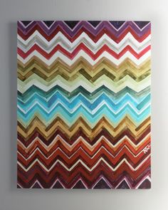 Chevron Giclee. Love this painting. pop of color. cheers, dana.