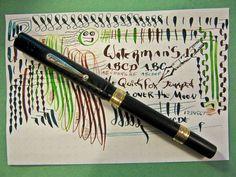 Waterman 12 Flex 2 Gold Band Clip Cap Eyedropper Fountain Pen flexible 14K Nib #Waterman