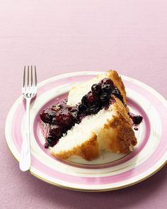 Martha Stewart's Ginger Berry Compote with Angel Food Cake