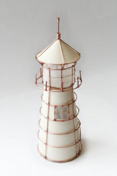 Copper wire lighthouse nigtlight table lamp by MyWaveDesign, $45.00