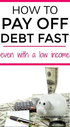 Learn these simple steps to pay off debt fast even with a low income. You can get out of debt quick with these tips on how to eliminate debt and reach financial freedom. How to get out of debt | Paying off bills | Budgeting | Financial Freedom | Save Mone