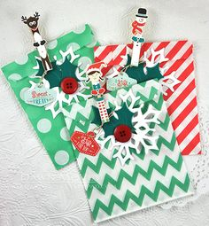 Christmas Treat Bags by Dawn McVey for Papertrey Ink (October 2015)