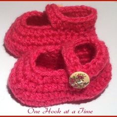 Red Baby Jane Style Booties