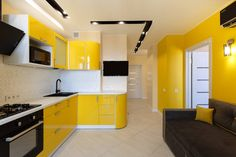 Yellow Wall Decor, Yellow Walls, Type 3, Palace, Kitchen Cabinets, Pasta, Facebook, Interior Design, Table