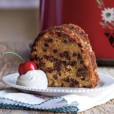 Chocolate Chip Bundt Cake.  I make this cake when I have the house to myself.  That way I don't have to share.