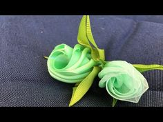 Ribbon Art, Ribbon Hair Bows, Diy Hair Bows, Ribbon Crafts, Flower Crafts, Ribbon Rose, Zipper Flowers, Organza Flowers, Kanzashi Flowers
