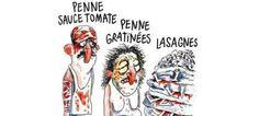 Ο δήμος Αματρίτσε κάνει μήνυση στο Charlie Hebdo για το σκίτσο με τα λαζάνια [εικόνα]