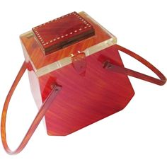 RARE Lucite Box Purse Compact Vintage 1950s Feiner Bags New York  $350  https://www.rubylane.com/item/676693-A16-39/Lucite-Box78-Purse-Compact-Vintage-1950s
