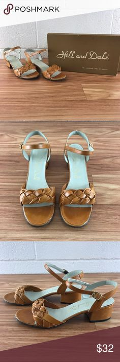 Hill and dale vintage braided sandals Size 6 1/2 medium. Comes with original box. Overall good vintage condition however it does show slight signs of wear as pictured. Approximately late 1950s early 1960s hill and dale Shoes Sandals