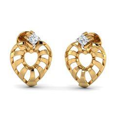 Queen of Hearts Studs 18 karat gold earrings Heart Earrings, Gold Earrings, Valentines Day Hearts, Heart Of Gold, Black Onyx, Studs, Cufflinks, White Gold, Wedding Rings