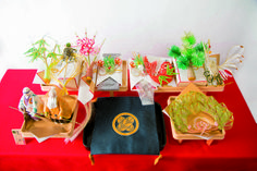 """These tools are used in """"Yuinou"""" ceremony. """"Yuinou"""" is a system of traditional marriage in Japan. All of these decorations have a special mean one by one, and wish ride and groom will be happy in their life.  learn more; our issue no.14"""