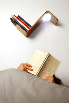 Reading Light - Lililite by Thijs Smeets. Inspirational lighting design. This would be a great #gift for a bookworm.