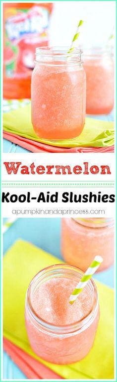 Easy Kool-Aid Watermelon Slushies