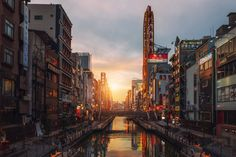 Sunset in Osaka by peter stewart   photography