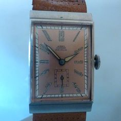 KANO PRIMUS vintage rectangular art deco mechanichal with big form movement edesthal is manufacturer of the case as UG NOS