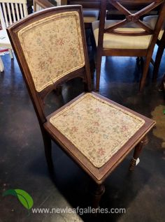 We've got 3 of these antique chairs! They're light, but sturdy. The wear on the chairs make them feel like they belong in your home.